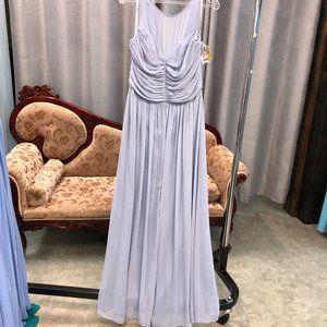 Dessy Halter Grecian Bridesmaid Lux Chiffon Dress
